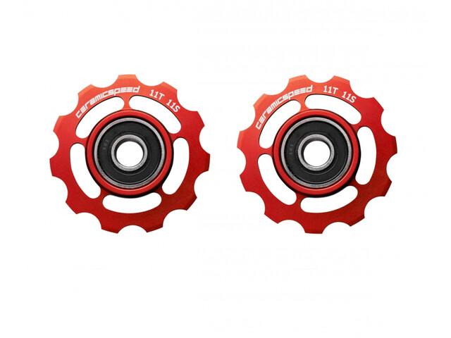 CeramicSpeed Road/MTB Roues de poulie Céramique 607 pour Shimano 11 vitesses, red